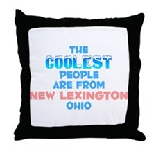 Coolest: New Lexington, OH Throw Pillow