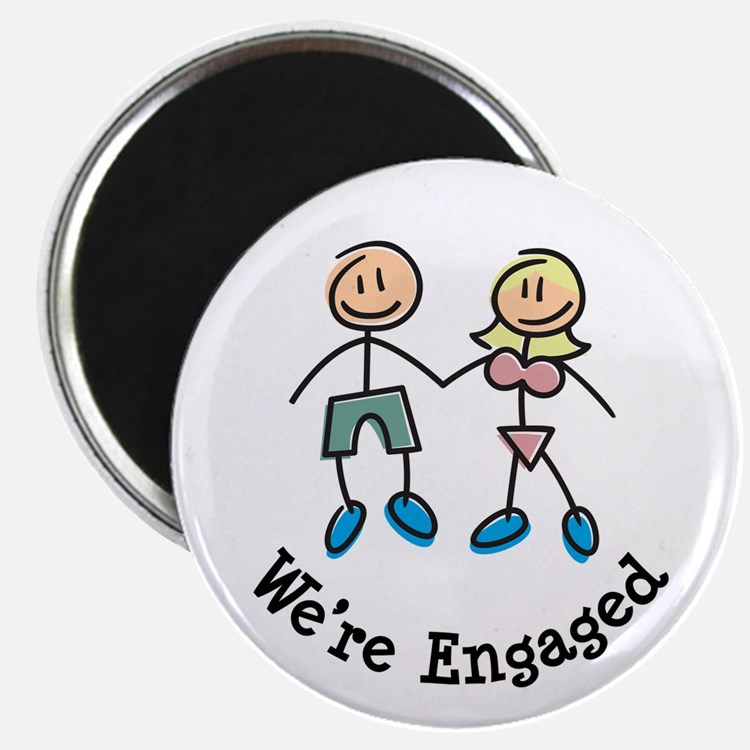 We're Engaged Magnet