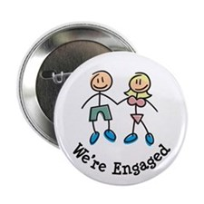 "We're Engaged 2.25"" Button"