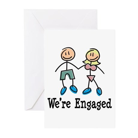 We're Engaged Greeting Cards (Pk of 10)