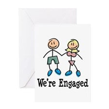 We're Engaged Greeting Card