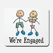 We're Engaged Mousepad