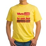 God Showing Off Yellow T-Shirt