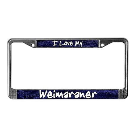 Funky Love Weimaraner License Plate Frame