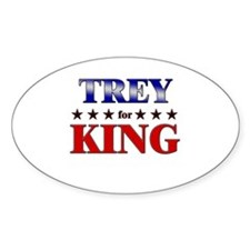 TREY for king Oval Decal