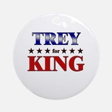 TREY for king Ornament (Round)