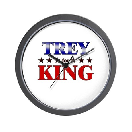 TREY for king Wall Clock