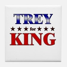TREY for king Tile Coaster