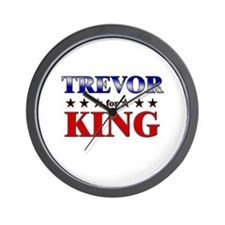 TREVOR for king Wall Clock