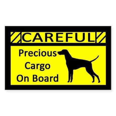 Precious Cargo Vizsla Sticker (Rect)