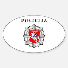 Policija Oval Decal