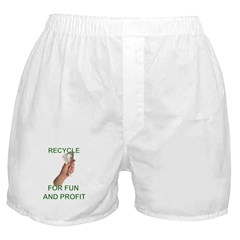 Recycle for fun and profit Boxer Shorts