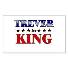 TREVER for king Rectangle Decal