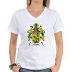 Gruter Family Crest Women's V-Neck T-Shirt