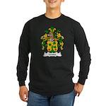 Gruter Family Crest Long Sleeve Dark T-Shirt