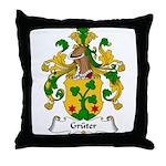 Gruter Family Crest Throw Pillow
