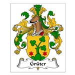 Gruter Family Crest Small Poster