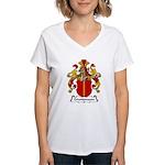 Grundmann Family Crest Women's V-Neck T-Shirt
