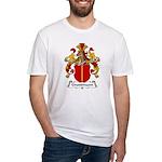 Grundmann Family Crest Fitted T-Shirt