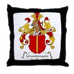 Grundmann Family Crest Throw Pillow