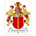 Grundmann Family Crest Small Poster
