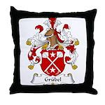 Grubel Family Crest Throw Pillow