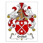 Grubel Family Crest Small Poster