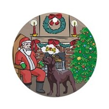 What A Lab Wants For Christmas Ornament (Round)