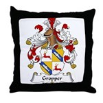Gropper Family Crest Throw Pillow