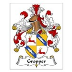 Gropper Family Crest Small Poster