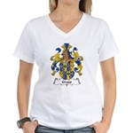 Gropp Family Crest Women's V-Neck T-Shirt