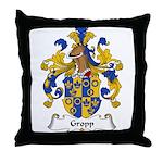 Gropp Family Crest Throw Pillow