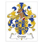 Gropp Family Crest Small Poster