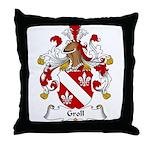 Groll Family Crest Throw Pillow
