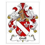 Groll Family Crest Small Poster