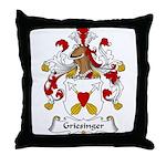Griesinger Family Crest Throw Pillow