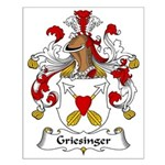 Griesinger Family Crest Small Poster