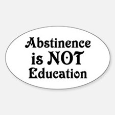 Abstinence Oval Decal