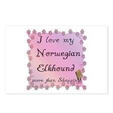 Elkhound Shopping Postcards (Package of 8)