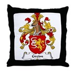 Greim Family Crest Throw Pillow