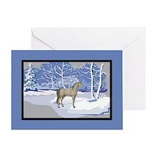 Scenic Winter Arabian Horse Christmas Greeting Car