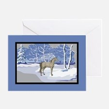Scenic Winter Arabian Horse Christmas Greeting Car