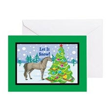 Let It Snow Arabian Horse Christmas Greeting Card