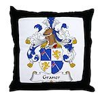 Graner Family Crest Throw Pillow