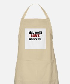 Real Women Love Wolves BBQ Apron
