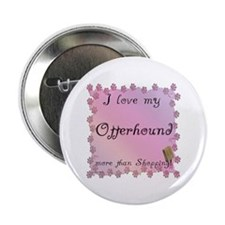"Otterhound Shopping 2.25"" Button"