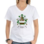 Grabow Family Crest Women's V-Neck T-Shirt
