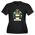 Grabow Family Crest Women's Plus Size V-Neck Dark