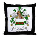 Grabow Family Crest Throw Pillow