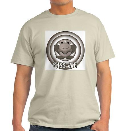 Retro Kiss Me Frog Ash Grey T-Shirt
